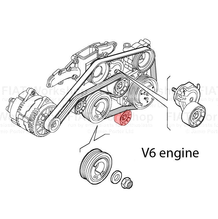 fiat punto auxiliary tensioner  idler